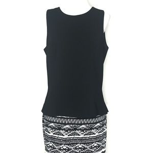 Kenar Studio Black Sleeveless Blouse Top A120323